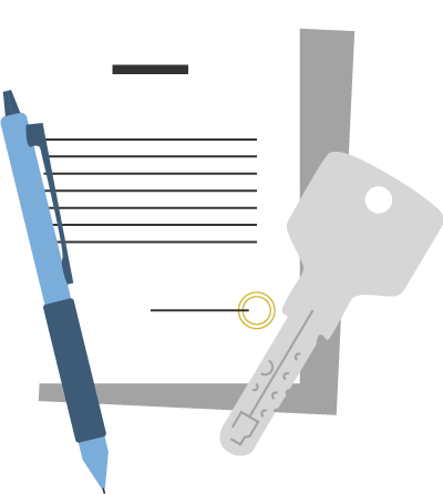 IT Important instructions, termination of contract, delivery of keys